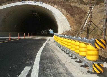 Polymer Composites Vehicle Safety Barrier,Yellow Roller Crash Barrier